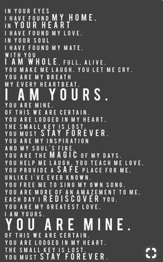 I am...you are...