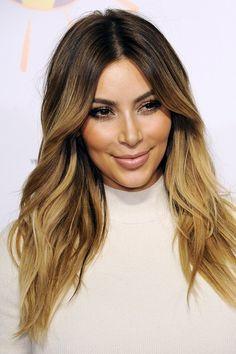 Kim+Kardashian+ombre+for+brown+hair