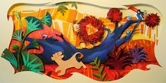 """""""I Just Can't Wait To Be King"""" from Disney's The Lion King. Paper art from the amazing Britney Lee."""