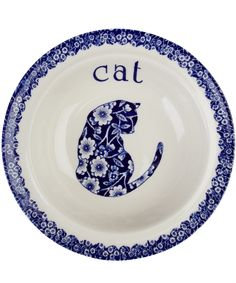 Calico Cat Cereal Bowl, Burleigh