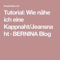 Tutorial: Wie nähe ich eine Kappnaht/Jeansnaht › BERNINA Blog