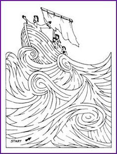 Galilee Boat Coloring Pages
