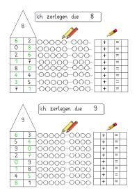 Decompose numbers 8 and 9 - Zahlen bis 10 - Music Education Games, Education Logo, Special Education Classroom, Kids Education, Free Preschool, Preschool Printables, Math For Kids, Fun Math, Best Science Books