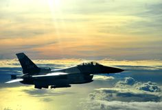 An F-16C Fighting Falcon with the 18th Aggressor Squadron flies an air-to-air combat mission in support of Cope North 13 Feb. 12, 2013, near Anderson Air Force Base, Guam.