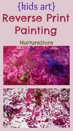 Fantastic process art for kids: reverse print painting (I've long done this with either finger painting in trays or on tables, or other types of painting -- brush, sponge, etc. -- on empty easels.)