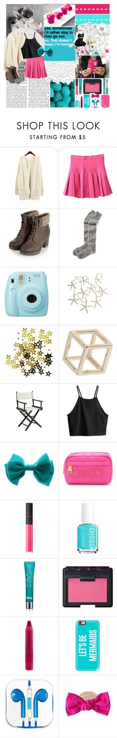 """""""*is it me you're looking for*"""" by c3l3stial-qu33n ❤ liked on Polyvore featuring Old Navy, Fuji, Topshop, Pier 1 Imports, H&M, Moschino, NARS Cosmetics, Essie, Dr. Brandt and tarte"""