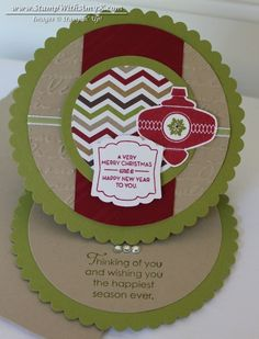 Scallop Circle Easel Card