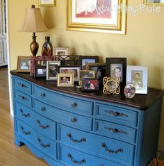 ASCP (Annie Sloan Chalk Paint) in Aubusson Blue...my fav color of hers