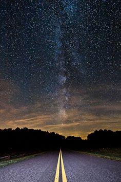 Night Drive on the Blue Ridge Parkway • Jon Beard
