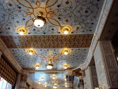 Detail ceiling mosaic  Cafe Imperial