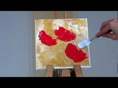 Tanja Bell How to Paint Red Poppies Palette Knife Painting Technique Tutorial