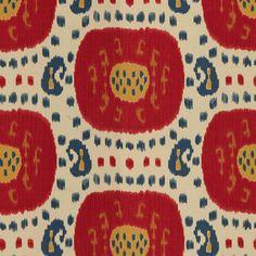Brunschwig & Fils - Samarkand - Pompeian Red/Oxford Blue