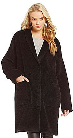 Eileen Fisher Sheared Suri Alpaca Kimono Coat