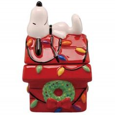 "Christmas Doghouse Snoopy on Top Salt and Pepper Shakers Set 4"". Westland Gifts (Mary B Decorative Art) via Walmart.com"
