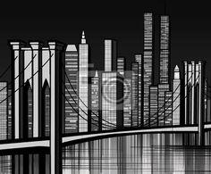 Fotomurale Ponte di Brooklyn a New York - USA