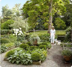 A Charming Connecticut Farmhouse Designed by Timothy Whealon - % Farmhouse Garden, Farmhouse Design, Landscape Plans, Landscape Design, Back Gardens, Outdoor Gardens, Plans Architecture, Landscape Architecture, Modern Garden Design