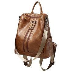 c44f5a309f Venture Leather Backpack. High Quality Backpack Black Brown 2018 New  Arrival Vintage PU Leather Backpack Women Bag Zipper Fashion Casual  Backpacks Womens