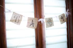 Perfect party accessories Burlap Baby Banner by HelloLoveBoutique on Ets. Burlap Baby Showers, Boys Day, Baby Banners, Party Accessories, Perfect Party, Best Part Of Me, Shower Invitations, Party Goods, Handmade Gifts