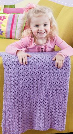 NEW LA75467 Blankets For Toddlers - Sweetie Pie Each of the 12 designs in Blankets for Toddlers is rated Beginner or Easy skill level and uses a simple one-row pattern repeat. The instructions also give you a choice of using one or two strands of medium weight yarn, so you can make a lightweight blanket or a heavier one.  http://www.maggiescrochet.com/products/blankets-for-toddlers