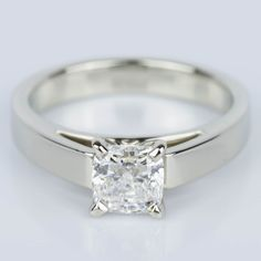 A stunning recently purchased Cathedral Solitaire Cushion Diamond Engagement…