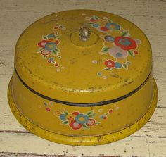 Art Deco Cake Tin. Vintage ca 1920s. Sunny by FrontStreetAntiques, $39.00