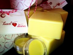 Make your skin baby soft again! Try out these hard lotion bars from Heart Desires on Etsy.