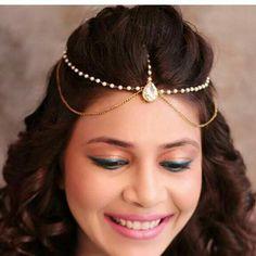 Bridal Headpiece Diy Hairstyles 35 Ideas For 2019 Tika Jewelry, Headpiece Jewelry, Head Jewelry, Indian Jewelry, Chain Headpiece, Hair Jewellery, Jewellery Making, Headdress, Body Jewelry