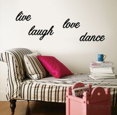 Live, Laugh, Love, Dance Wall Decal at AllPosters.com