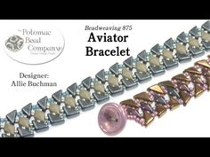 Aviator Bracelet Tutorial - YouTube, all supplies from www.potomacbeads.com