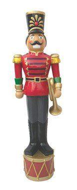"CTM International Giftware Inc JCR0503 Polystone Nutcracker Statue 52"" Tall, Hand Painted in Seasonal Colors by CTM International Giftware Inc, http://www.amazon.com/dp/B005OLGEJQ/ref=cm_sw_r_pi_dp_JosQqb0P4ZP4D"