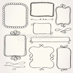 Rectangle Doodle Frames Royalty Free Stock Vector Art Illustration