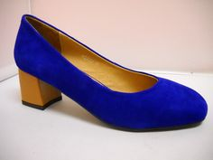 Bresley Delicia available in Black, Azure, Orange and Snow Leapord suede court with patent squared heel. T Dress, Dress Shoes, Court Heels, Work Wear, Peep Toe, High Heels, Footwear, Pumps, Snow