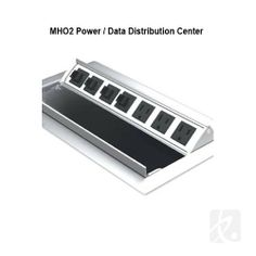 MHO² Power / Data Distribution Center - #Power your #laptop and other items from the conference room #table. #Retractable power and #data center opens and closes with one touch, so you can quickly and easily plug your #electronics.