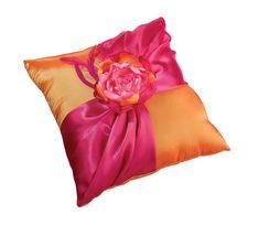 Hot Pink/Orange Ring Pillow