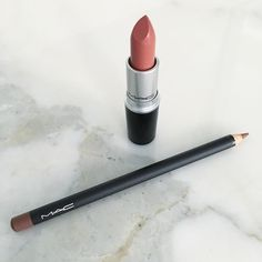 I always get asked what I'm wearing on my lips and 80% of the time it's this pretty little combo!! Mac Velvet Teddy lipstick and Stripdown lip liner!