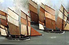 Régate des Bisquines (maquette)  Association des Amis du Musée national de la Marine