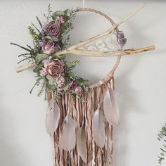 Your place to buy and sell all things handmade Dream Catcher Decor, Dream Catcher Boho, Dream Catchers, Diy And Crafts, Arts And Crafts, Macrame Art, Crafty Craft, Dried Flowers, Diy Gifts