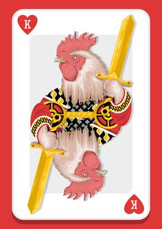 Rooster King. by Alexandre Godreau, via Behance