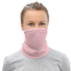 Light Pink - Neck Gaiter #NeckWarmer #neck #NeckGaiter #headband #accessories #face #FaceCover #wristband #bandana #mask Blue Eye Color, Blue Face Mask, Face Masks, Polka Dot Scarf, Polka Dots, Tube Scarf, Neck Warmer, Fabric Weights, Stretch Fabric