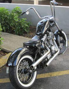 Harley Fat Boy Twin Cam Softail Bobber Motorcycle by Matt.