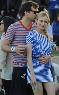 Joshua Jackson and Diane Kruger enjoy their time together at the Coachella Music Festival in Indio, Calif., on April 15.
