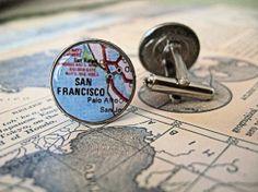 map cuff links