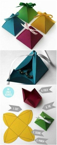 Amazing Christmas Gift Wrapping Ideas You can Make Yourself Origami pyramid gift boxes. - 40 Amazing Christmas Gift Wrapping Ideas You can Make YourselfOrigami pyramid gift boxes. - 40 Amazing Christmas Gift Wrapping Ideas You can Make Yourself Christmas Gift Wrapping, Diy Christmas Gifts, Christmas Ideas, Origami Christmas, Funny Christmas, Holiday Gifts, Merry Christmas, Santa Gifts, Christmas Birthday