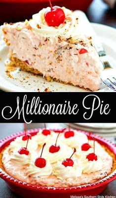 This prep for this vintage Millionaire Pie is so simple it'll move it to the top of the list of your favorite special occasion no-bake desserts. Holiday Desserts, No Bake Desserts, Easy Desserts, Holiday Recipes, Delicious Desserts, Christmas Appetizers, Summer Desserts, Holiday Treats, Pie Recipes