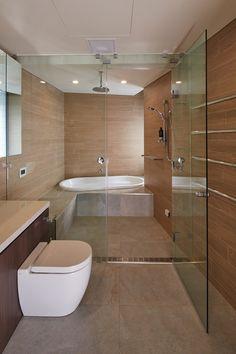 sunken tub shower combo - Google Search | Of Interest | Pinterest ...