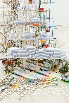Sarah Sze Installation Architecture