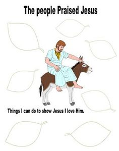 The Triumphal Entry of Jesus Kids Church Lessons, Bible Lessons For Kids, Bible For Kids, Sunday School Projects, Sunday School Lessons, School Ideas, Triumphal Entry Craft, Christian Classroom, Catholic Catechism