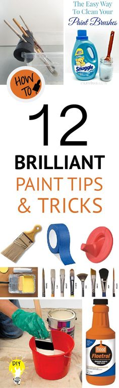 12 Brilliant Paint Tips & Tricks Learn tips and tricks to make your next paint job easy. 12 Brilliant Paint Tips & Tricks Learn tips and tricks to make your next paint job easy. Painting Walls Tips, House Painting, Diy Painting, Painting Hacks, Wall Paintings, Faux Painting, Paint Furniture, Furniture Ideas, Funky Furniture