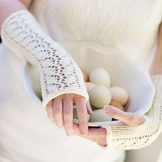 Lace-Back Fingerless Gloves