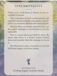 Seeing is not a coincidence. It is synchronicity. What is synchronicity? Tarot, Spiritual Guidance, Spiritual Awakening, Angel Guidance, Chakras, Archangel Uriel, Angel Prayers, Spiritus, Angel Cards